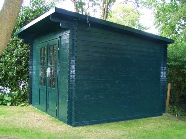 Casetta in legno Marche 3x3 verde
