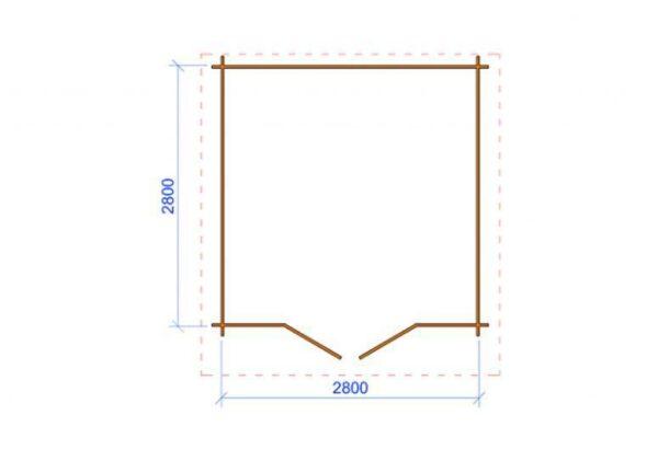 Casetta in legno Marche 3x3 misure