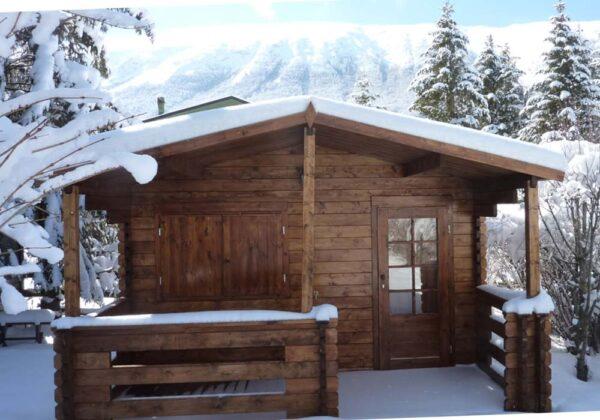 Casetta in legno Milano inverno