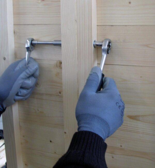 Chiosco in legno 3x3 montaggio