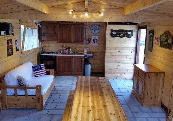 Garage in legno 4x6 interno