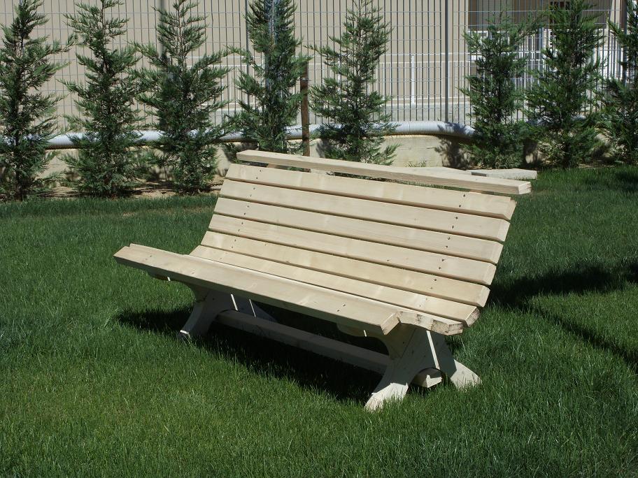 Panca in legno for Arredo giardino legno