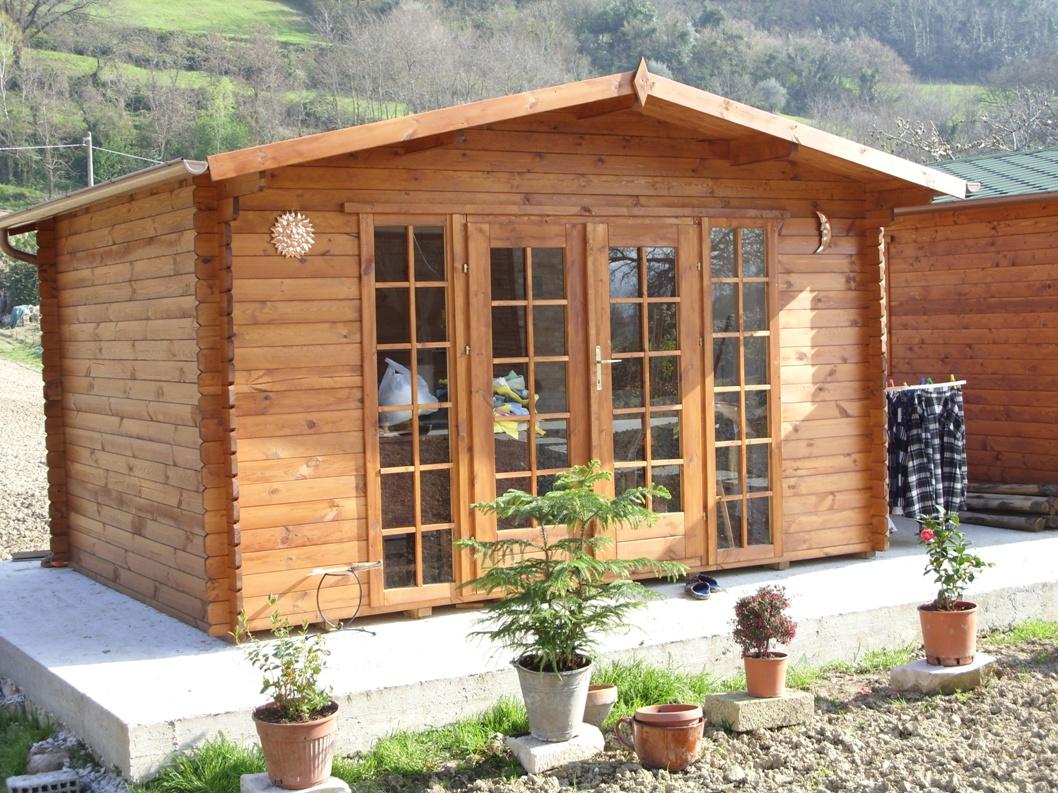 Casetta in legno mod basilicata 4 3 - Casette in legno per giardino ...