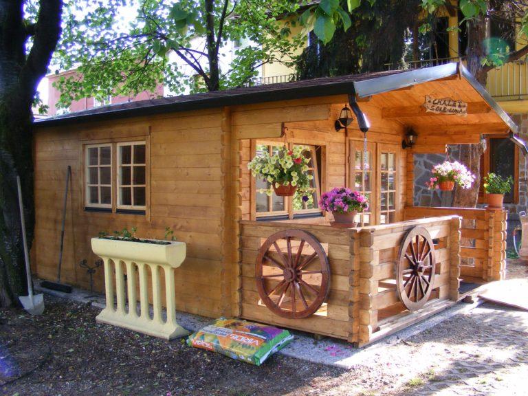 Casetta in legno mod. Milano 4x5