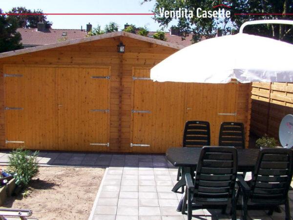 Garage in legno doppio 6x6