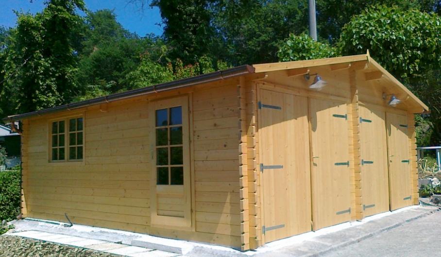 Garage in legno doppio 6x6 - Garage in legno ...