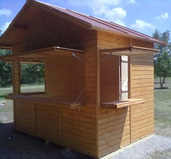 Chiosco in legno 3x2 a pannelli
