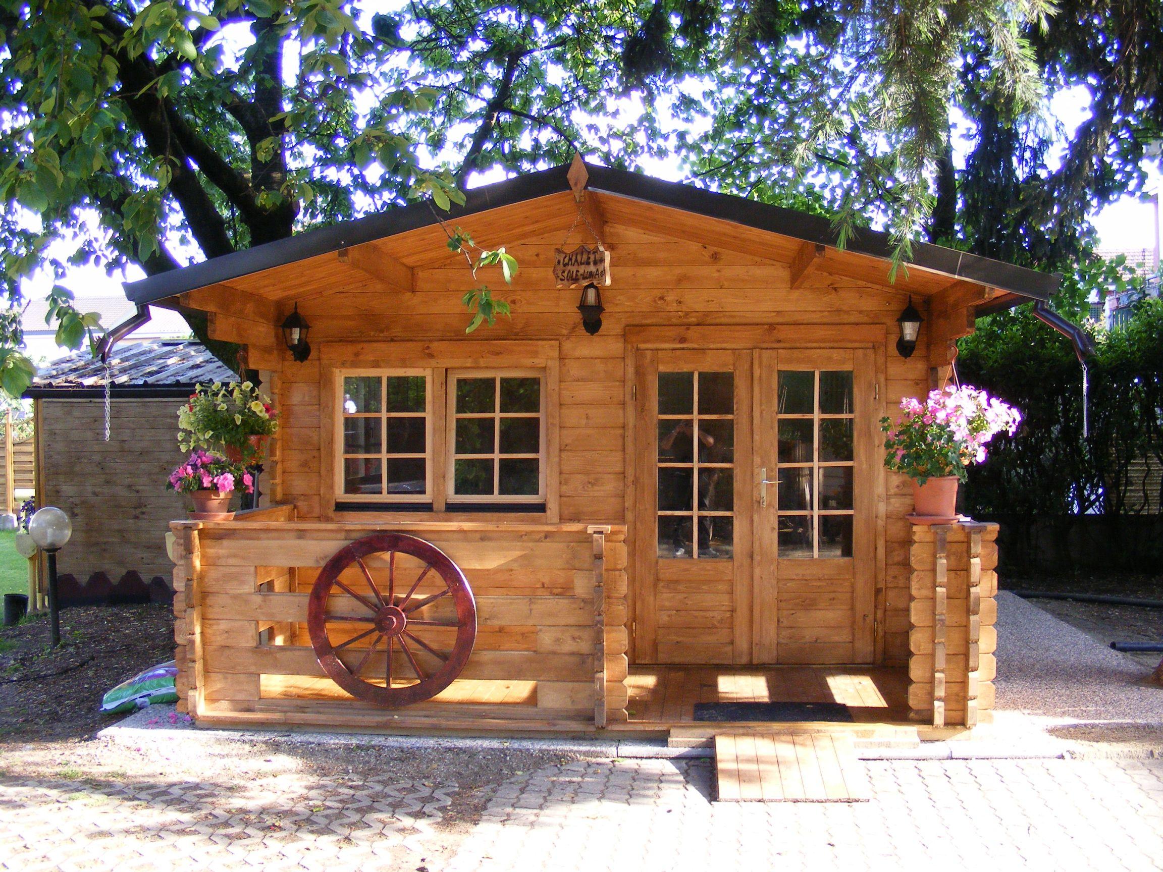 Casetta in legno mod milano 4x4 - Casette in legno per giardino ...
