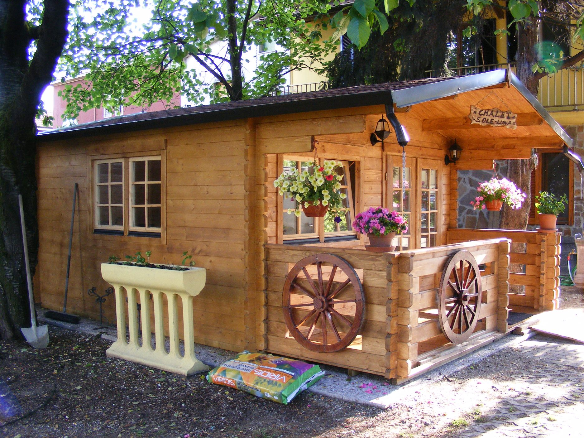 Casetta in legno mod milano 4x4 for Mobili da giardino milano