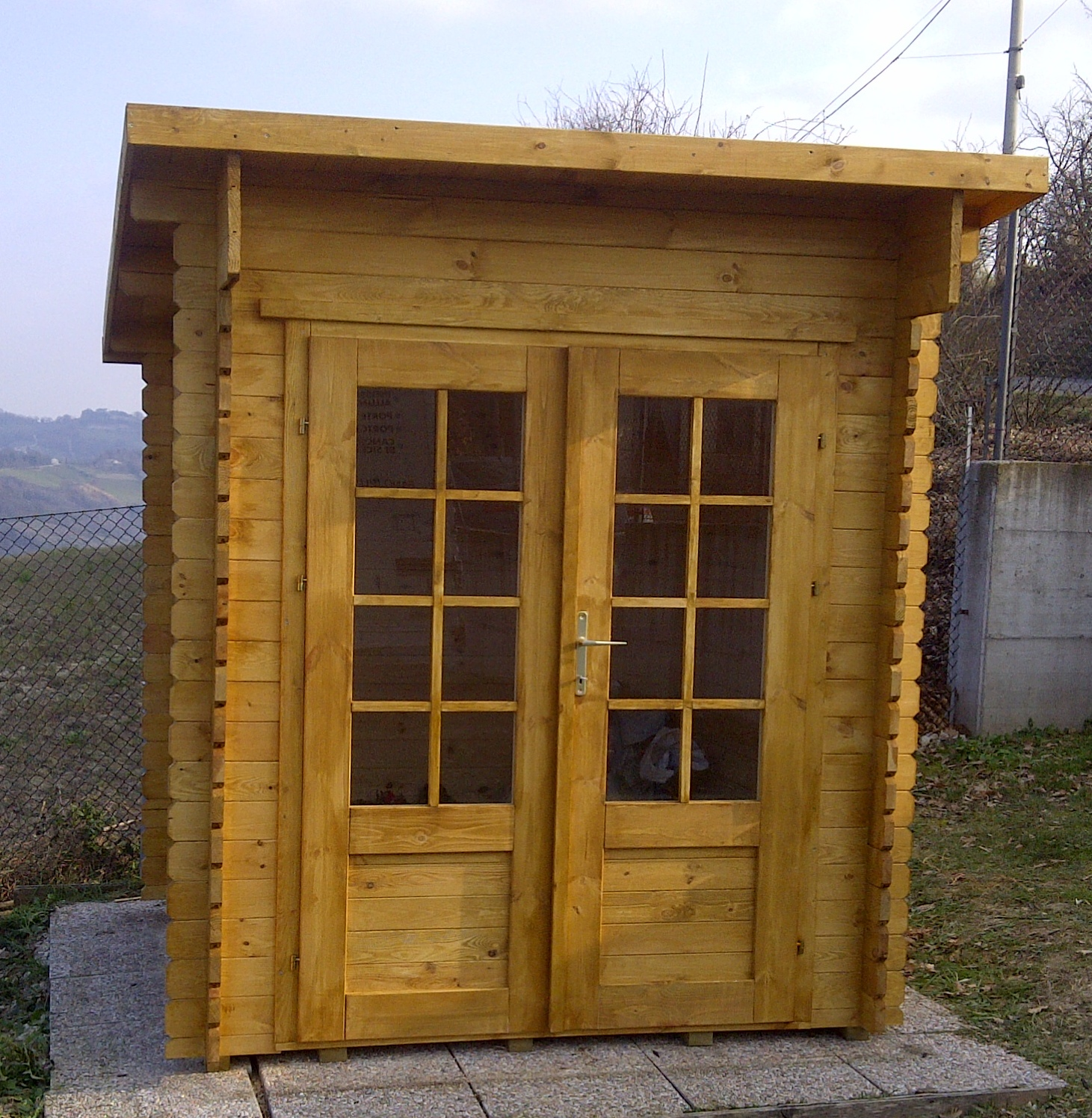 Casetta in legno mod marche 2x3 for Case prefabbricate torino