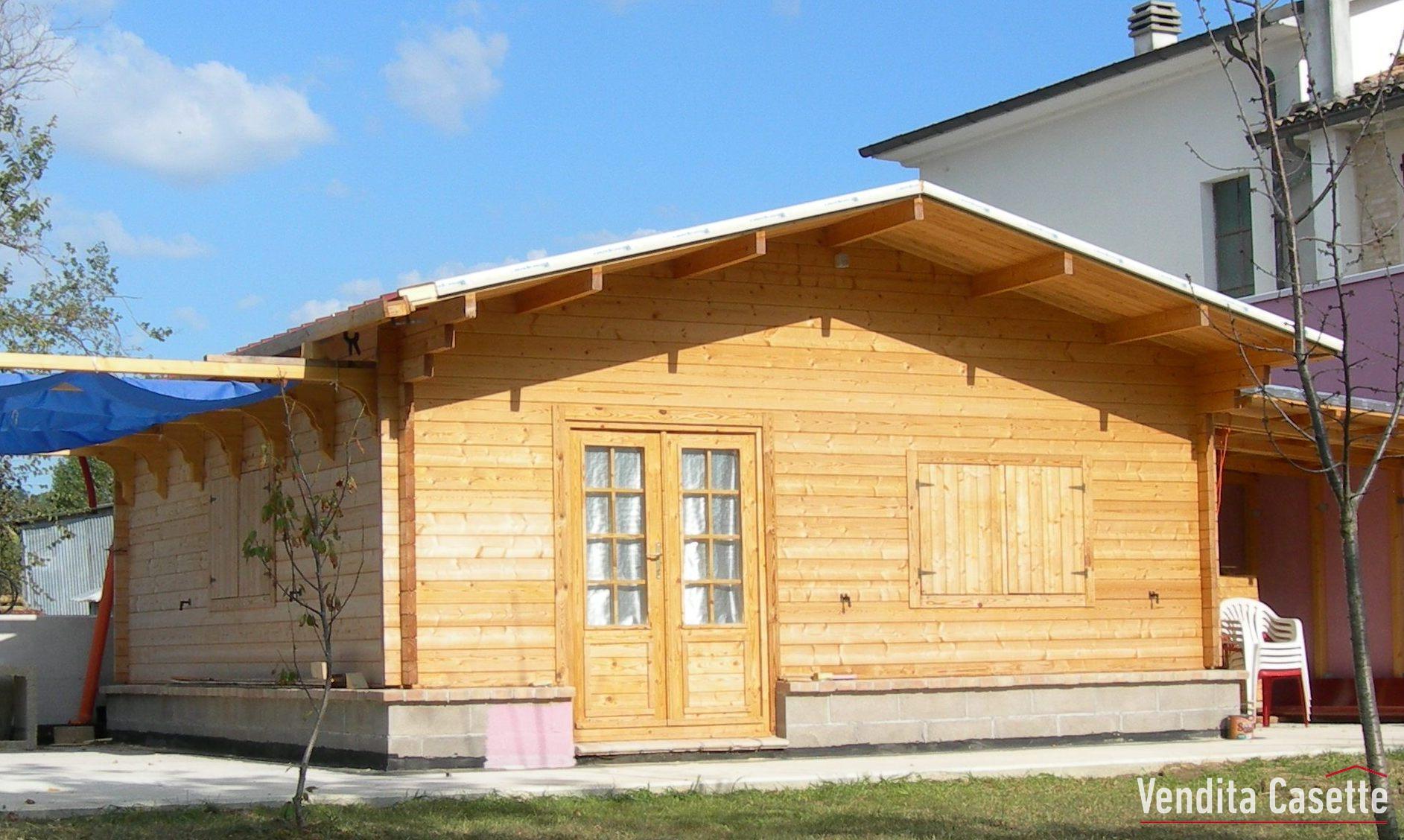 Casetta in legno mod ravenna for Casette prefabbricate in legno