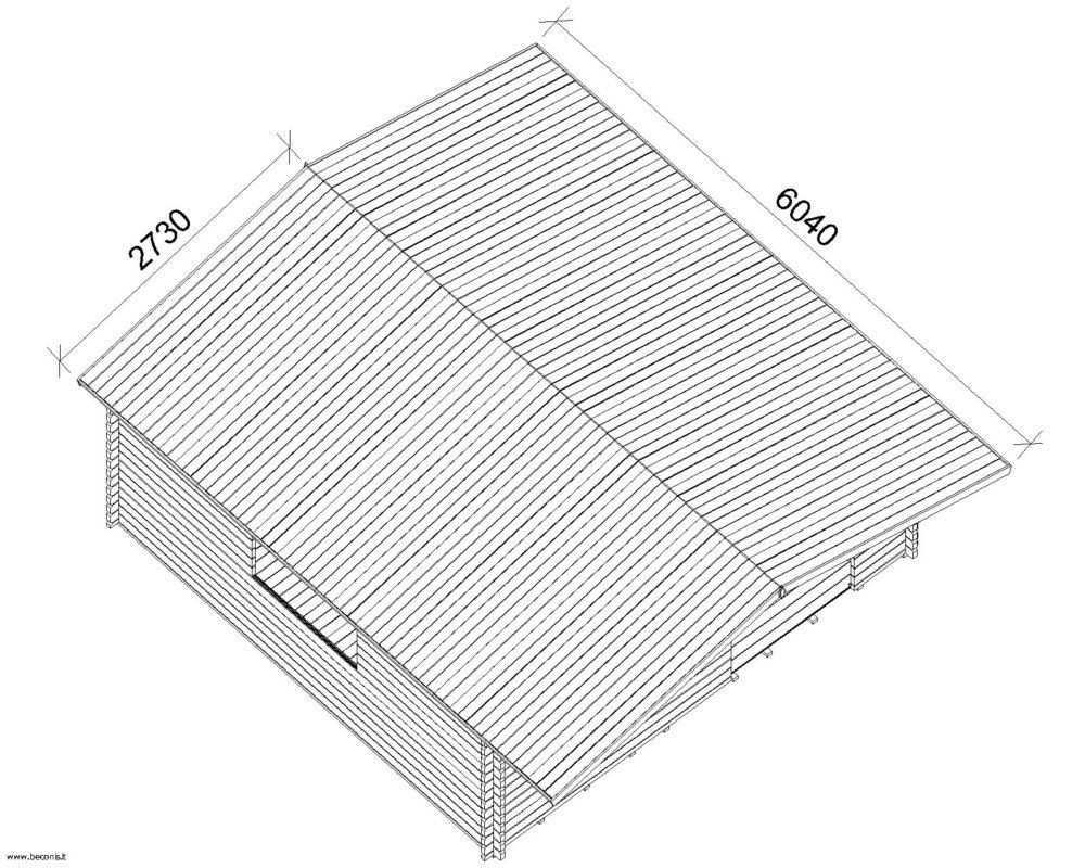 Casetta in legno mod milano 5x5 for Casette legno 5x5