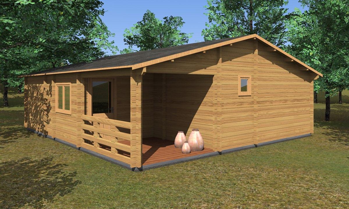 Casa Di Legno Costi casa in legno puglia - 8x9 - 68mm