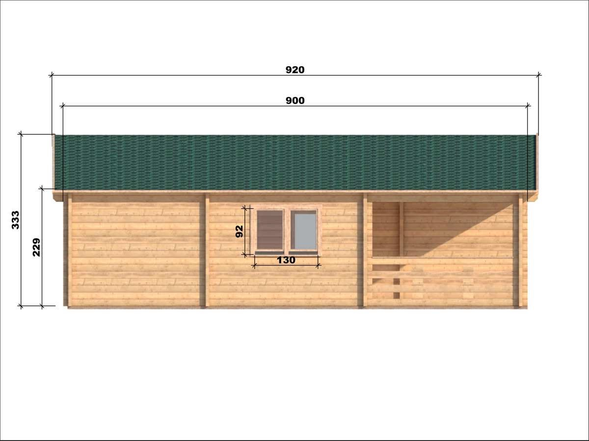 Casa in legno puglia 8 9 68mm for Case prefabbricate in puglia