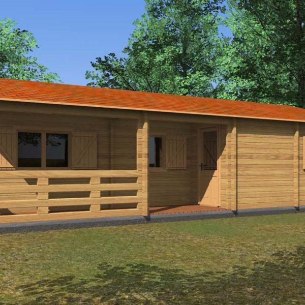 Veneto 11x7 70mm for Durata casa in legno