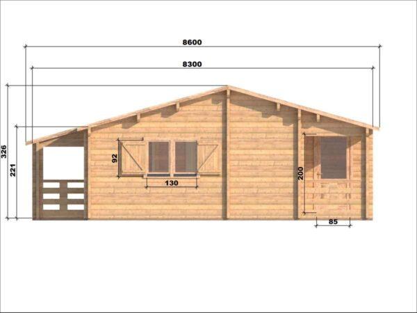 Casa in legno modello Veneto