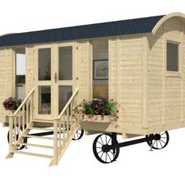 case mobili su ruote in legno