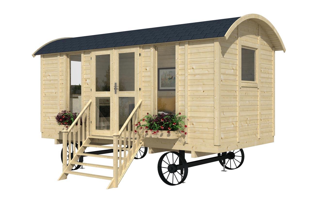 Casa mobile su ruote mod trento 4 8x2 4 - Case in legno mobili ...