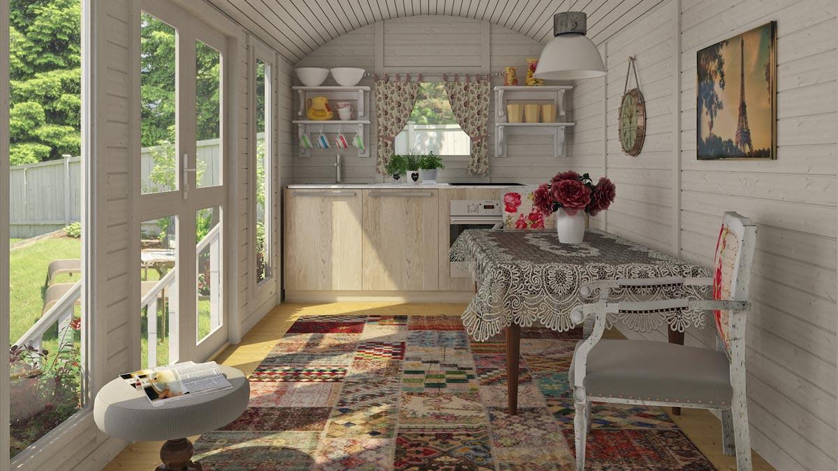 Casa mobile su ruote mod trento 3 6x2 4 - Interno case in legno ...