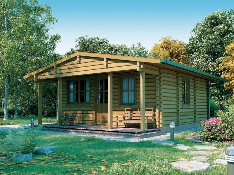 Casette in legno abitabili con veranda