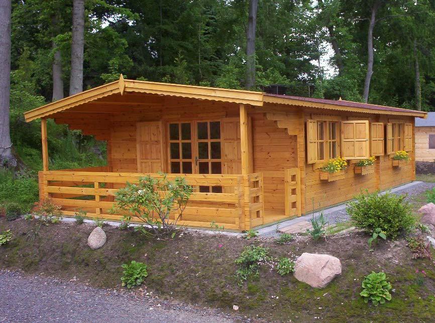 casette in legno con veranda modello Toscana