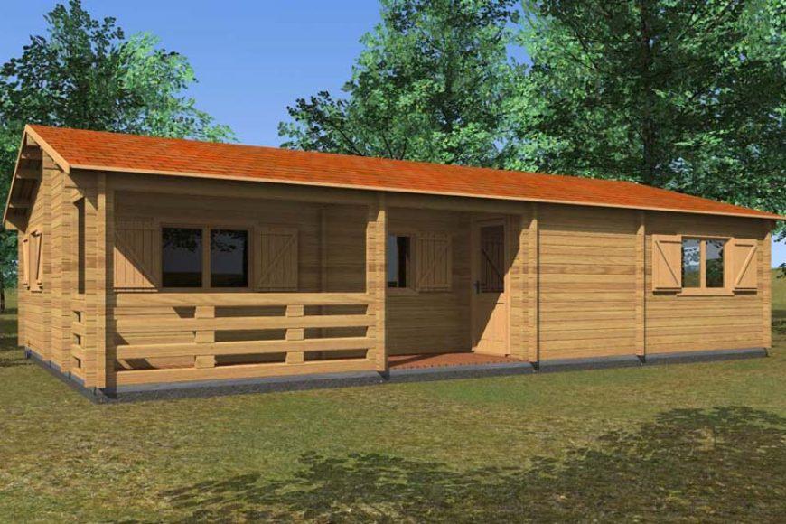 Casette in legno con veranda per godersi il bel tempo