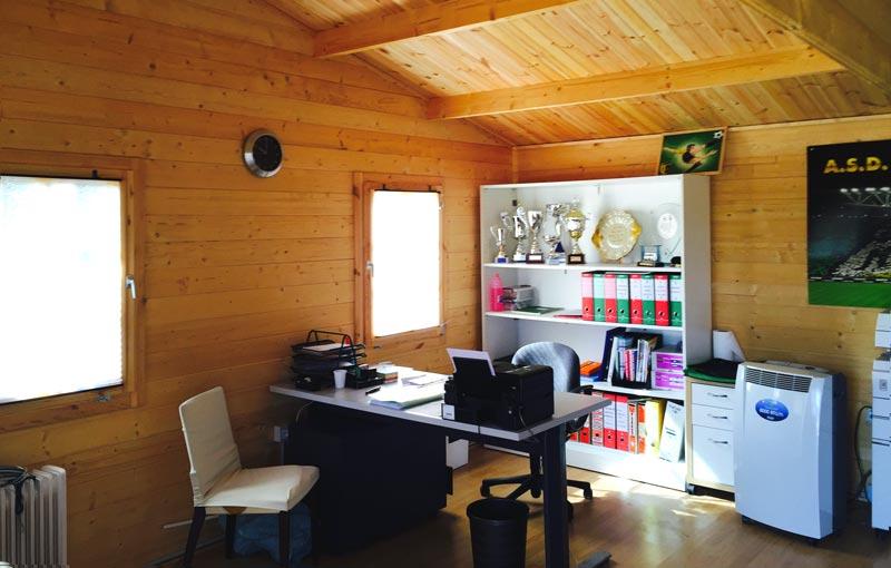 Vendita casette in legno for Garage con ufficio