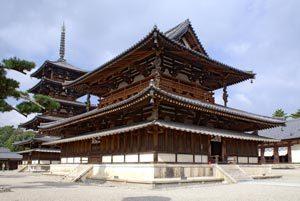 il tempio di Horyu-ji in Giappone