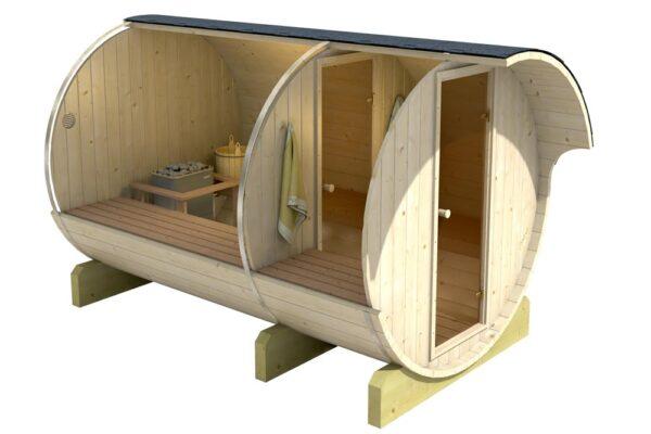 Sauna da esterno modello 330 interno