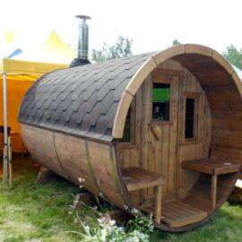 Sauna da esterno con veranda modello 330