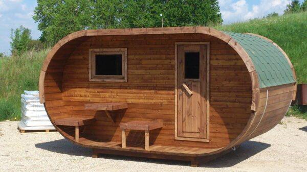 sauna da esterno ovale