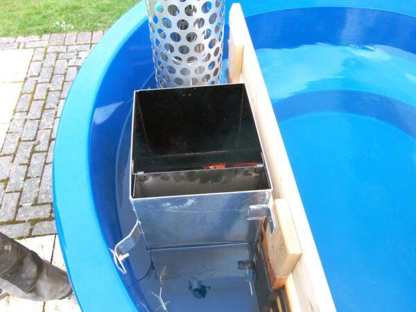 minipiscina da esterno hot tub 160 con caldaia