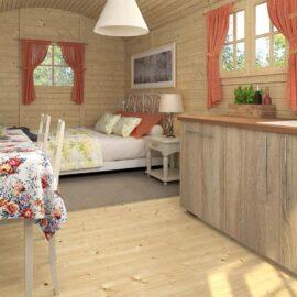 Casa mobile su ruote vista interna del modello Toscana