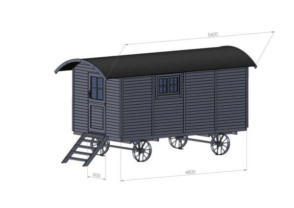 Misure della Casa mobile su ruote modello Toscana