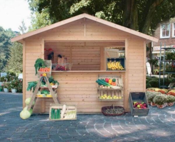 Chiosco in legno modello Rimini 3x2