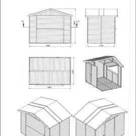 Chiosco in legno modello Rimini - Dimensioni