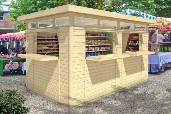 Chiosco in legno modello Sanremo Lux