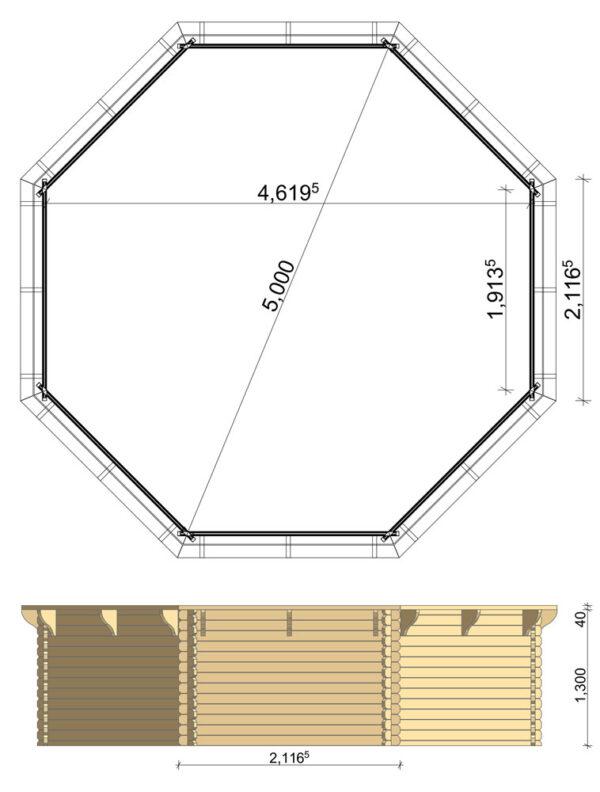 Scheda tecnica piscina diametro 5 metri