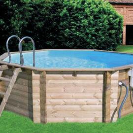 piscina fuori terra ottagonale 36 mq