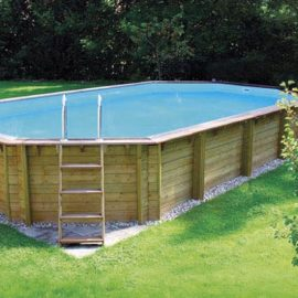 piscina fuori terra ottagonale 42 mq