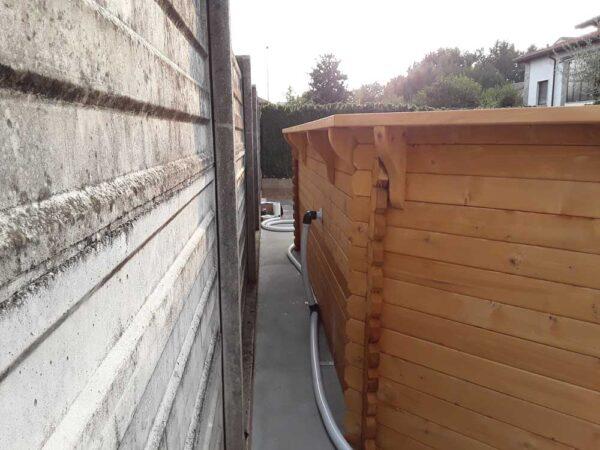 Piscina fuori terra in legno - particolare 2