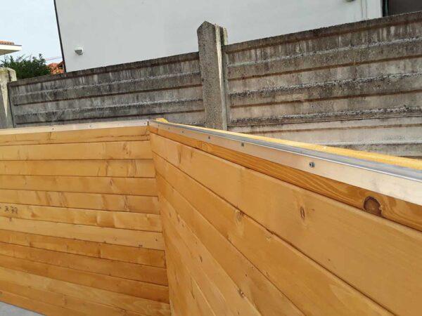 Piscina fuori terra in legno - particolare 5