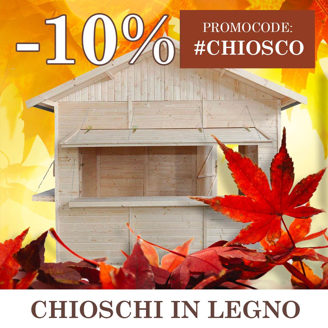 Chiosco in legno: - 10% con promocode